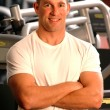 Stock Photo: Fitness center man