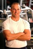 Fitness center man — Stock Photo