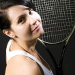 Sexy female tennis player young — Stock Photo