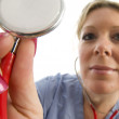 Nurse doctor with stethoscope — Stock Photo