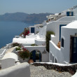 Caldera view santorini greek islands hotel — Stock Photo