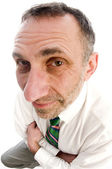 Serious man with large nose — Stock Photo