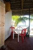 Restaurante nativo maíz isla nicaragua frente a la playa — Foto de Stock