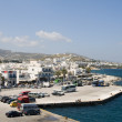 Port harbor town parikia paros cyclades islands — Stock Photo #23040388