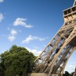 Eiffel tower base with trees — Stock Photo