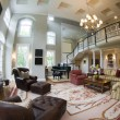 Fish eye view large luxury living room — Stock Photo