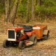 Tractor mower with hitch antique — Stock Photo #23043108
