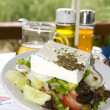 Greek salad in the greek islands — Stock Photo