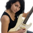 Sexy woman playing guitar — Stock Photo #23043764
