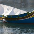 Malta luzzu fishing boat — Stock Photo