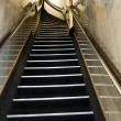 Typical steep staircase stairway hotel amsterdam holland — Stock Photo