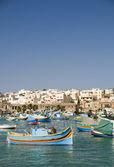 Marsaxlokk malta fishing village — Stock Photo