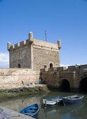 The skala du port citadel by the harbor essaouira morocco — Stock Photo