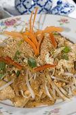 Pad thai chicken thailand food — Stock Photo