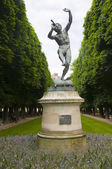 Statue of faune dans ant bogene louis lequesne in luxembourg gardens — Stock Photo