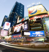 Times square new york taxi movement — Foto Stock