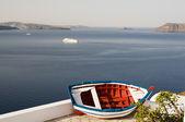 Vieux pêche bateau caldeira oia santorin — Photo