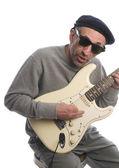 Senior man playing guitar — Stock Photo