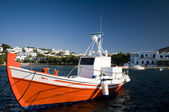 希腊钓鱼船在港口希腊群岛 — 图库照片