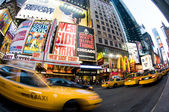 Times square new york taxi movement — Stock Photo