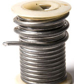 Spool of solder — Stock Photo