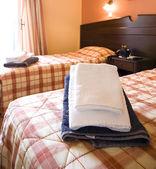 řecký ostrov hotelový pokoj — Stock fotografie
