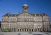 Royal palace dam square amsterdam holland — Stock Photo