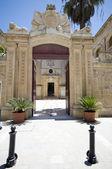 Entrada portão vilhena palácio mdina malta — Foto Stock