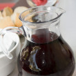 Carafe red wine ajaccio corsica — Stock Photo