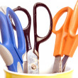 Variety office supply scissors — Stock Photo