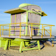 Iconic lifeguard station hut South Beach Miami Florida — Stock Photo #23056042