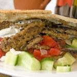 Постер, плакат: Pita donner kebab larnaca cyprus