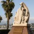 Statue homage to the resistance ajaccio corsica france — Stock Photo
