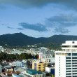 Skyline view downtown port of spain trinida with performing arts - Foto de Stock