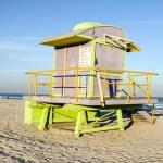 Iconic lifeguard station hut South Beach Miami Florida — Stock Photo #23056488