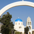 Stock Photo: Classic greek island church cyclades islands