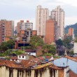 Architecture historic district rooftops church La Candelaria Bogota — Stock Photo