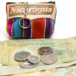 Souvenir key chain change purse coins made in Nicaragua - Stock Photo