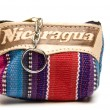 Stock Photo: Souvenir key chain change purse made in Nicaragua