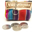Stock Photo: Souvenir key chain change purse coins made in Nicaragua