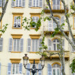 Typical hotel architecture bastia corsica france — Stock Photo