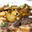 Entrecote steak diinner ajaccio corsica france — Stock Photo