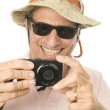 Middle age senior tourist male — Stock Photo