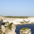Stock Photo: Limestone rock formation bonifacio corsica