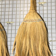 Sweeping broom brush made in cyprus — Stock Photo