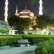Stock Photo: Blue Mosque Hippodrome park night Istanbul Turkey