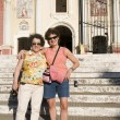 Two tourist friends El Calvario Church Leon Nicaragua — Stock Photo #23059126