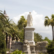 Statue napoleon ajaccio corsica france — Stock Photo