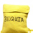 Knitted change purse bag souvenir of bequia island st. vincent — Foto de Stock