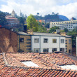Architecture historic district rooftops church La Candelaria Bogota — Stock Photo #23059570